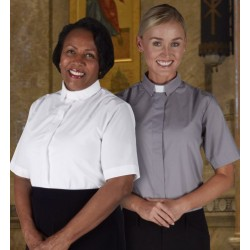 Clergy Blouse-Womens-Short...