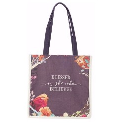 Totebag-Canvas-Blessed Is She