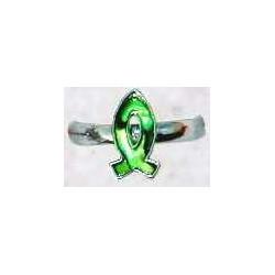 Ring-Green Paua Shell...
