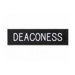 Badge-Deaconess-Pin Back...