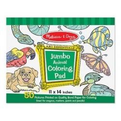 Jumbo Coloring Pad: Animal...