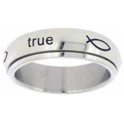 Ring-Stainless-True Love...