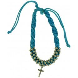 Bracelet-Blue Cotton...