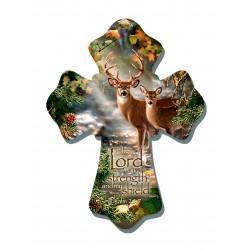 Wall Cross-Deer/Lord Is My...