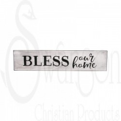 Sign-Engraved-Bless Our...
