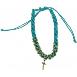 Bracelet-Light Blue Cotton...