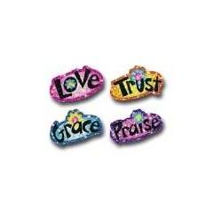 Sticker-Faith Words Dazzle...