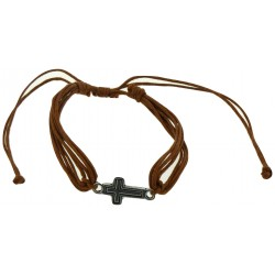 Bracelet-Light Brown Cotton...