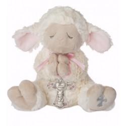 Plush-Serenity Lamb w/Crib...