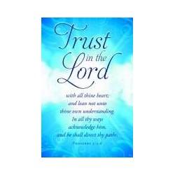 Bulletin-Trust In The Lord...