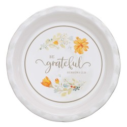 Pie Plate-Grateful Floral