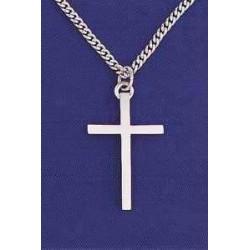 """Necklace-Cross-Plain W/20""""..."""