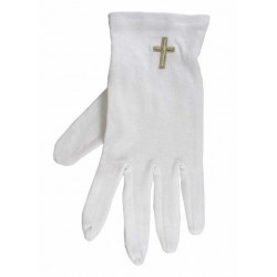 Gloves-Gold Cross Cotton-XLG